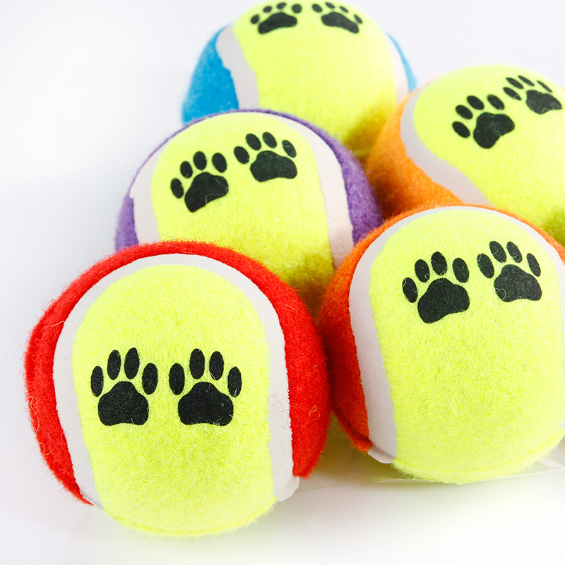 100pcs Candy color Dog Toy Tennis Balls Run Catch Throw Play Toy Chew Toys-in Dog Toys from Home & Garden    2