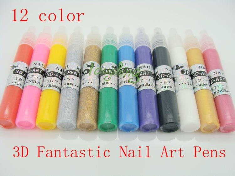 Uv Gel Acrílico Diseño 3d Pintura Uñas Arte Pluma Nailpolish