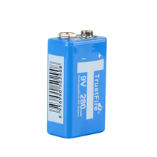 TrustFire 9V 280mAh Ni-MH Rechargeable Battery NiMH 9V Battery pilhas recarregaveis 9 volt batteries with storage box
