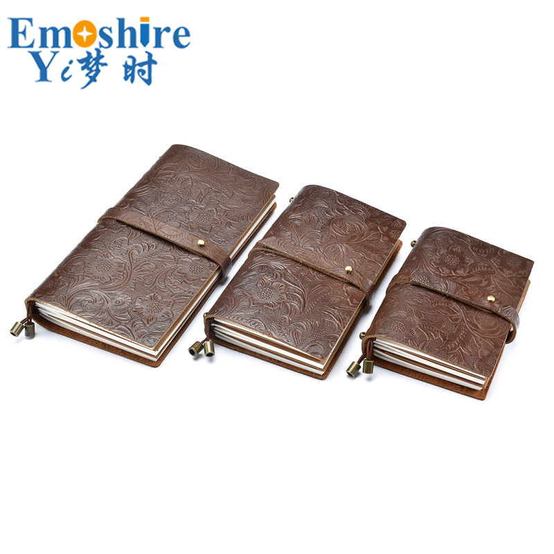 Travel Notebook Retro Carved Leather Notebook Manual Loose-leaf Notebook  Sub-Layer Leather Note Book Memo Pad for School N162 646fe8446c6