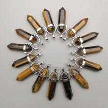 Ожерелье с подвеской «тигровый глаз» из натурального камня 12