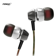Fonge Bass Earphones Double Moding Metal Headset With Mic For IPhone Xiaomi Samsung Mp3 Mp4 Piston Capsule Hybrid