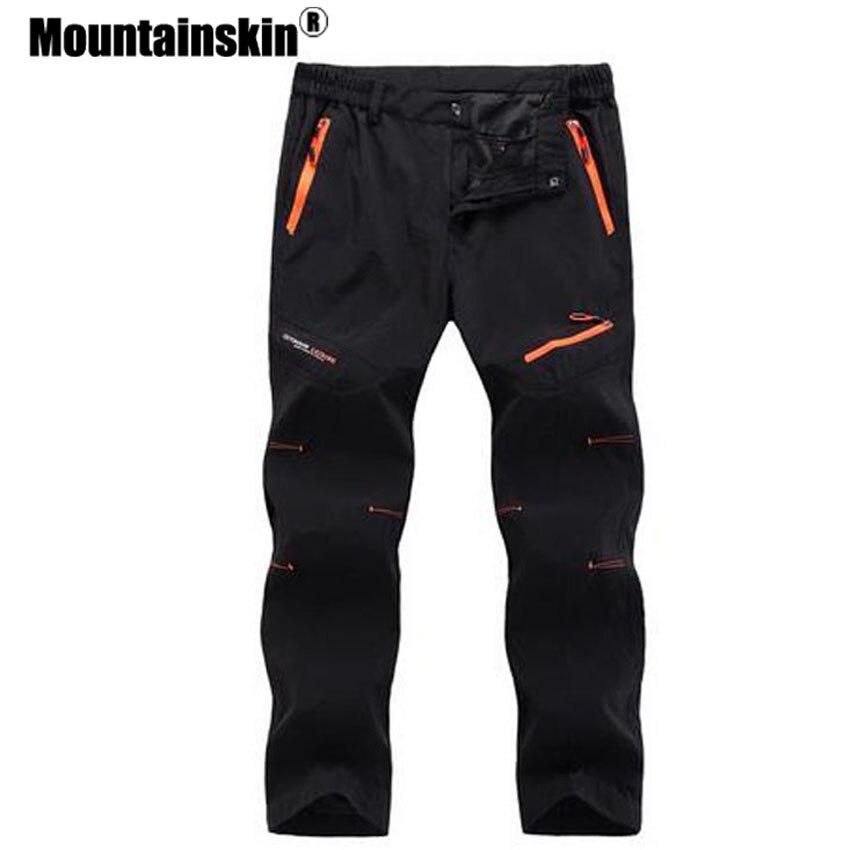 Mountainskin 5xl 2018 Для мужчин S быстросохнущая длинные Брюки для девочек Для мужчин дышащий бегунов Мотобрюки Мужской прочный Повседневное брендовая одежда sa023