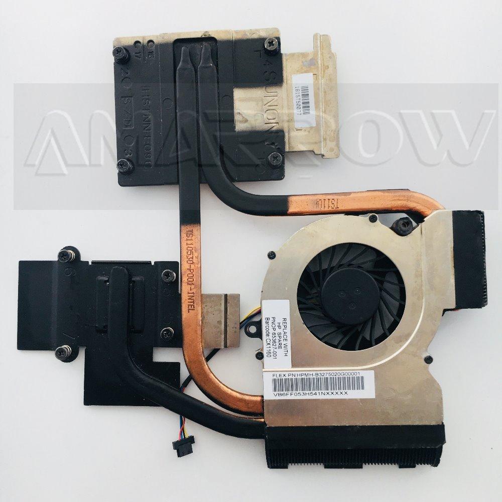 Original For HP Pavilion DV6 DV7 DV6-6000 DV6-6050 DV7-6000 DV7-6B Cooling Heatsink With Fan 653627-001 665309-001 650797-001