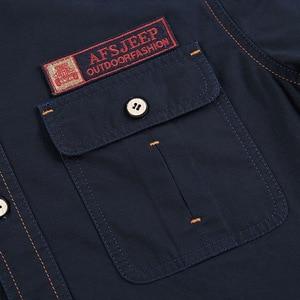 Image 3 - Plus Size S XXXXL 5XL Brand 100% Cotton Long Sleeve Denim Shirts Men Army Green Militray Casual Camiseta Masculina A3056