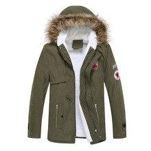 2016 Winter New Style Warm Men's Jacket Parka Thick Warm Fur Collar Long Cotton Jacket Men Comfortable Cotton Hooded Parka Men