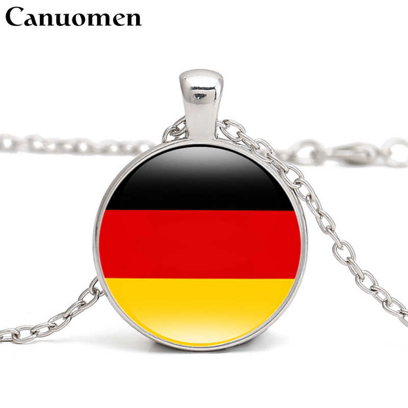 Canuomen Germany Flag Pendant Necklace Central Europe Country Austria Poland Czech Republic Slovakia Love Hometown Women Jewelry