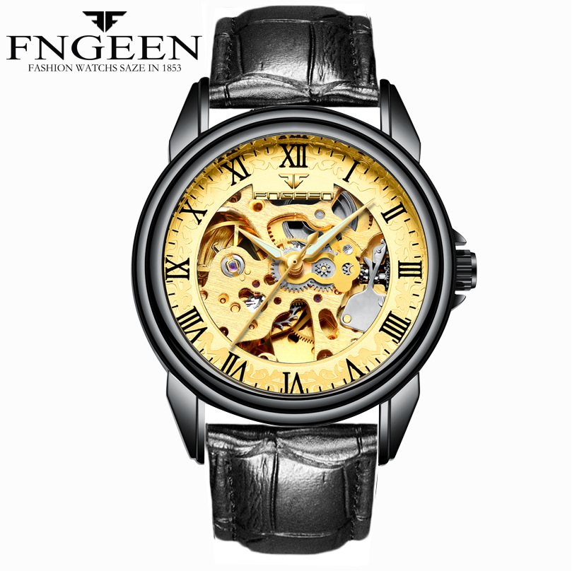 2018 squelette montre automatique hommes étanche hommes montres mécaniques Top marque montres de luxe