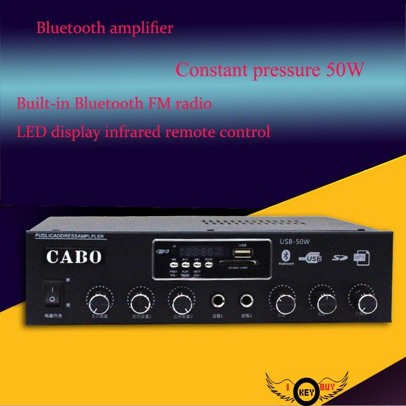 50 Вт постоянной Давление настенный фиксированный подвесной потолок Динамик звук Усилители домашние для Колонки <font><b>Bluetooth</b></font> USB/SD автомобильный са&#8230;