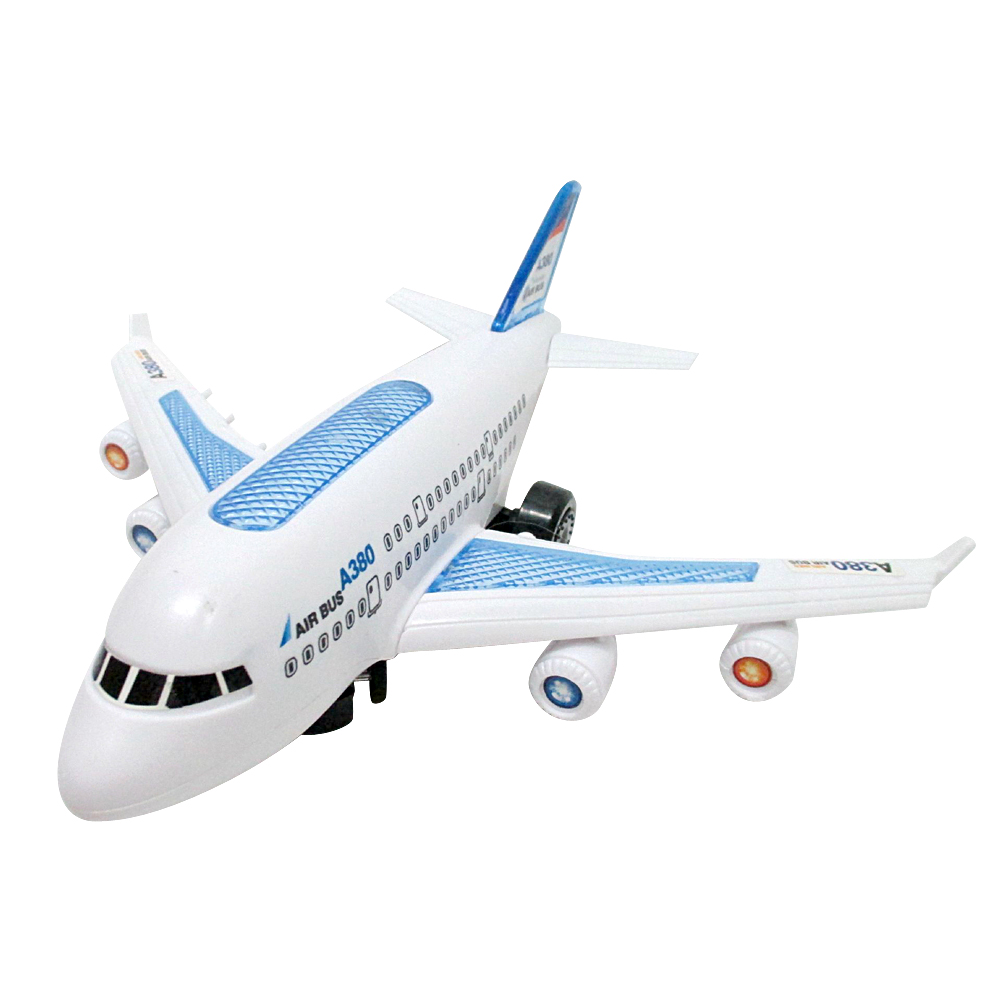 Electric Air Bus Model Toys Moving Flashing LED Light Sounds Kids Toy Assembling Aircraft Children Gift A380 Airbus Music Toy 127127 new children s toy aircraft supersize inertia simulation aircraft helicopter boy baby music toy car model
