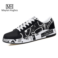 MH Brand Design Mens Flat Shoes Man Flats Breathable Shoes Mens Fashion Classic Outdoor Graffiti Summer