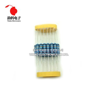 20pcs 2W Metal Film Resistor 2W 1% 0R - 2.2M 0 2.2 10 100 120 150 220 270 330 390 470 1K 2.2K 4.7K 10K 15K 100K 470K 1M ohm 3