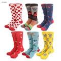 Série viagem casal meias rainbow espaço exterior hot air balonismo memphis flor colorida meias homens ou mulheres happy socks