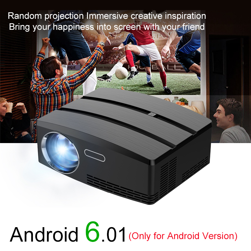 Newpal Projector GP80 Mini Projectors Android 6.01 4K/2K WIFI Bluetooth Simplebeamer Support HDMI DLNA Miracast LED TV otha portable mini projector smart dlp wifi bluetooth support miracast airplay ac3 mini beamer proyetor set in android 4 4