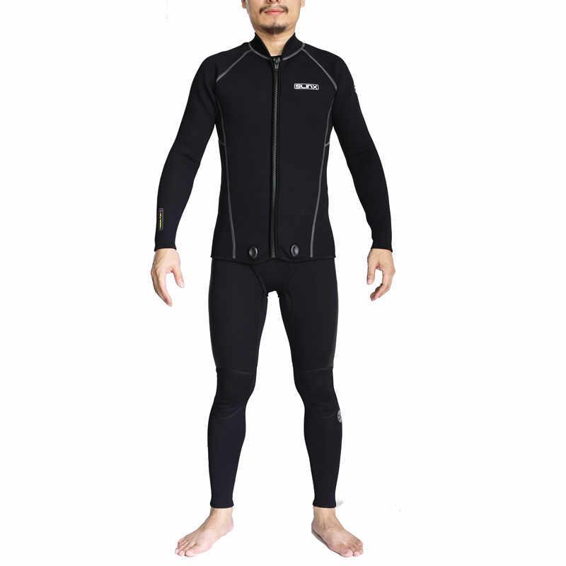 b394b410bb0 Two Piece Scuba Neoprene 3mm Diving Suit Sport Surfing Snorkeling  Spearfishing Swimwear Jumpsuit Triathlon Jellyfish Wetsuits