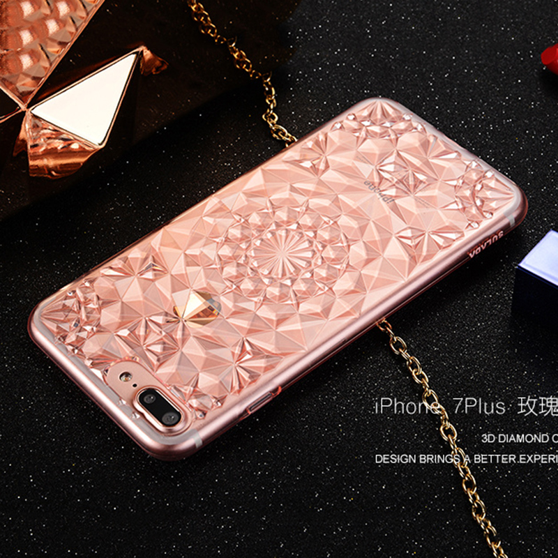 eseekgo case soft tpu gold cover for iphone product back diamond bling