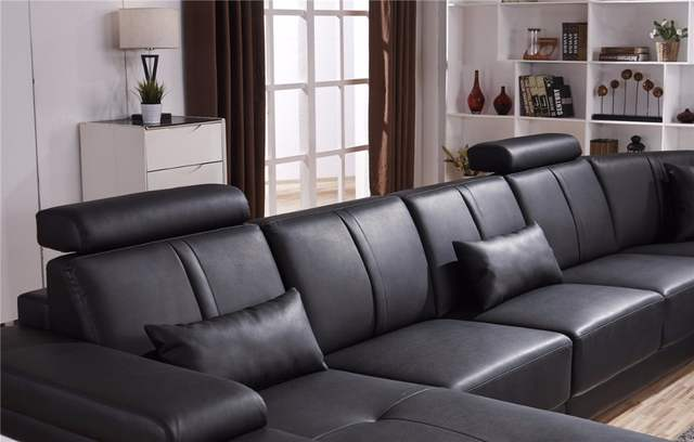 US $2800.0 |Beanbag Chaise Specail Offer Sectional Sofa Design U Shape 7  Seater Lounge Couch Good Quality Cheap Price Corner Leather Sofa-in Living  ...