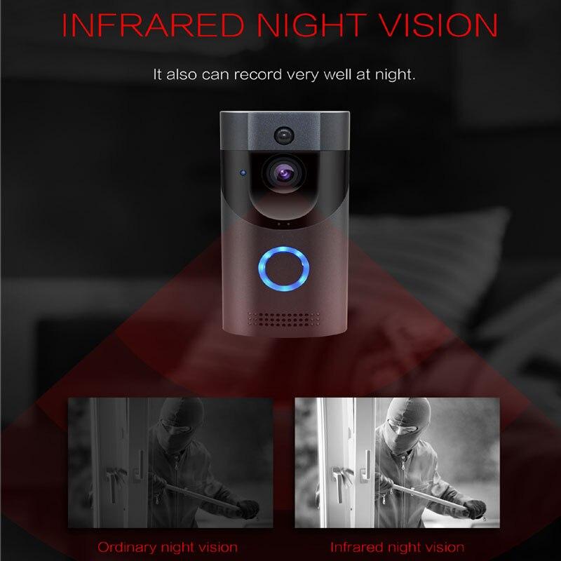 Anytek B30 WIFI timbre B30 IP65 impermeable Smart vídeo puerta timbre de 720 P inalámbrico abeto de alarma de la visión nocturna IR cámara IP - 2