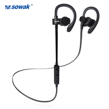 Sowak Q7 Sports Bluetooth headset  bluetooth 4.1 wireless headphones sports ear hook for iphone in-ear earbuds Built-in Mic