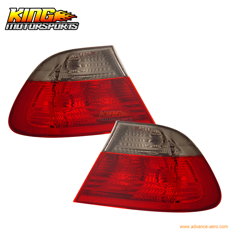 For 1999-2001 BMW 3 Series E46 2Dr Tail Lights Red Smoke Lens USA Domestic Free Shipping bmw 735 1999 г в спб