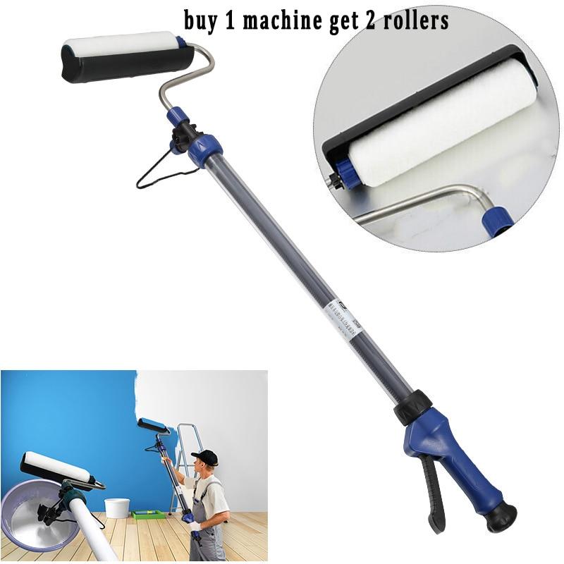 Decoratieve Verf Roller Extension 1.6 Meter Opslag Injectie Polyurethaan Tool Voor Muur Cilinder Geweven Machine 2 Rollen