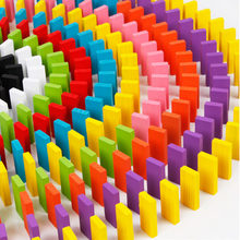 480pcs/set Children Rainbow Wooden Domino Blocks Toys Colorful Dominoes Kits Bright Games Educational Wood Play Toy Kids Gifts(China)