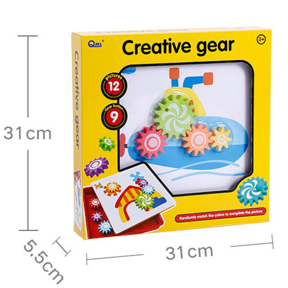 Children's Educational Toys Creative Mosaic Rotating Gear Nail Kit Art Kids 3D Puzzles Toys Gift For Baby Children Funny Toys