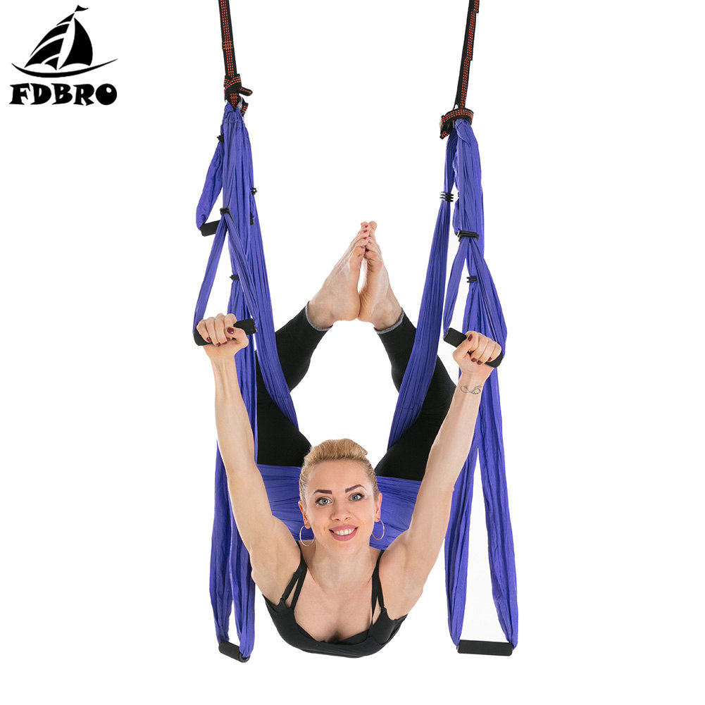 Frugal Fdbro Hanging Belt Swing Trapeze Anti-gravity Aerial Traction Device Aerial Yoga Hammock 6 Handles Strap Pilates Home Gym 2.5m Bringing More Convenience To The People In Their Daily Life Sports & Entertainment