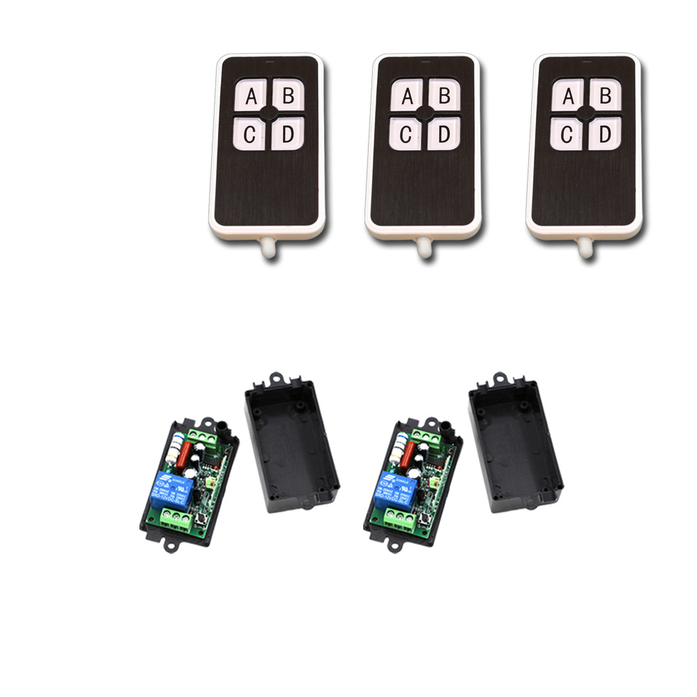 RF Wireless Remote Control Switch Systerm AC 110V 1CH 1 CH 10A Relay Receiver Remote Control Switch 315Mhz/433Mhz with case 315 433mhz 12v 2ch remote control light on off switch 3transmitter 1receiver momentary toggle latched with relay indicator