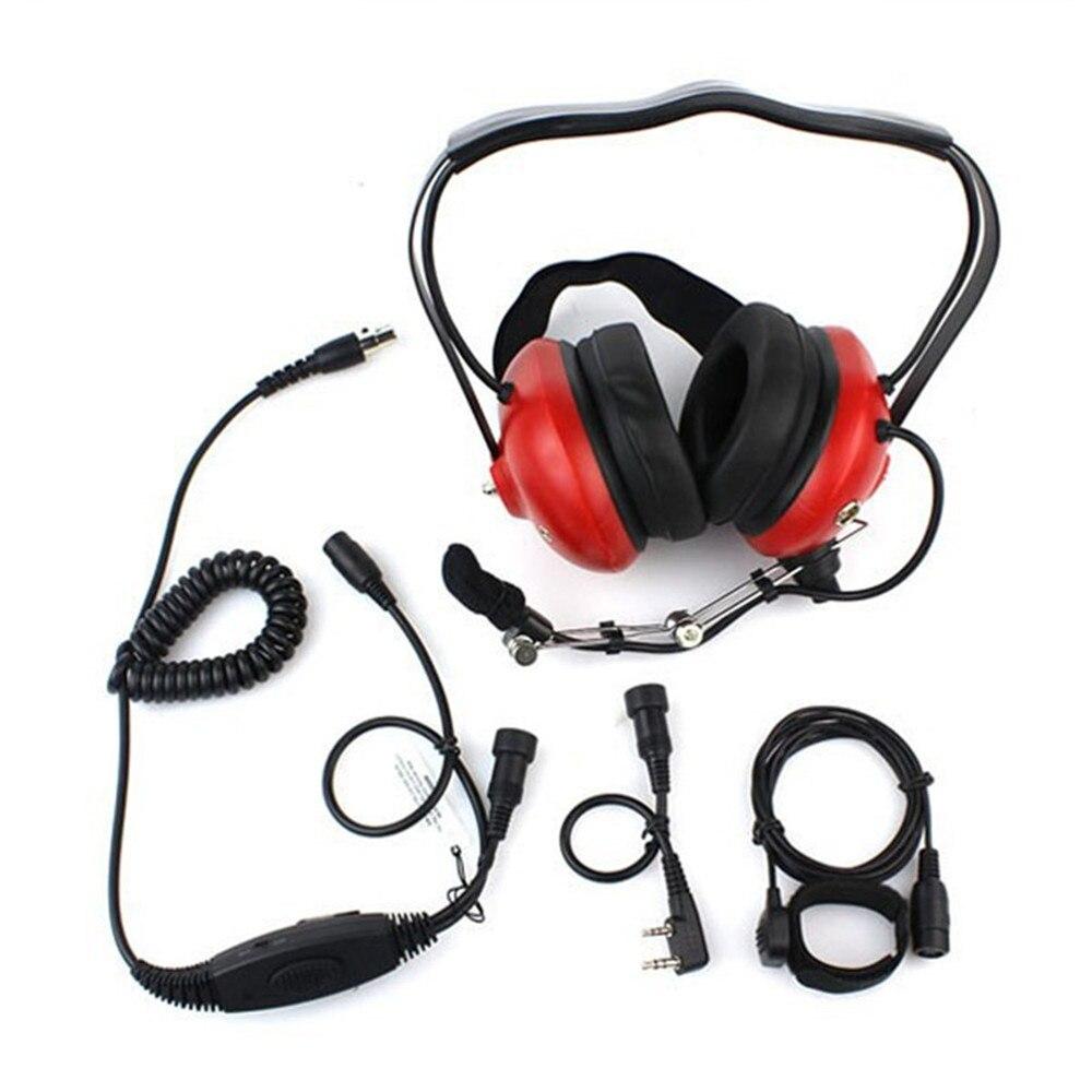 Casque d'aviation à réduction de bruit Compatible avec toutes les radios bidirectionnelles de marque K1 plug telles que pour l'écouteur Radio TYT HYT BaoFeng