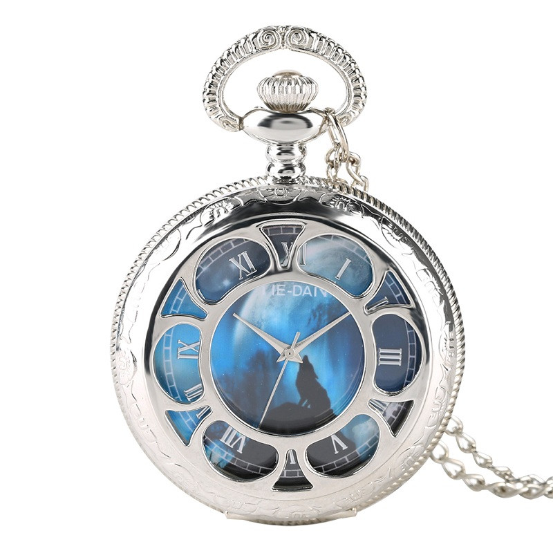 Pocket Watch For Men Warcraft Creative Earth Pattern Quartz Pocket Watch Chain Retro Gift For Pocket Watch Masculine Necklace