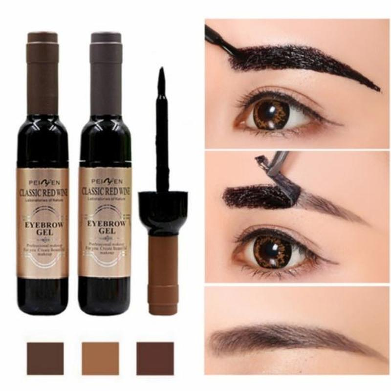 1 Pcs Eyebrow Gel Black Coffee Gray Peel Off Eye Brow Tattoo Shadow Eyebrow Gel Cosmetics Makeup for Women High Pigment Makeup wallet
