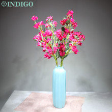 5pcs/Lot Peach Flower Silk Long Stem Artificial Wedding Party Event Fake Cherry Pink Free Shipping