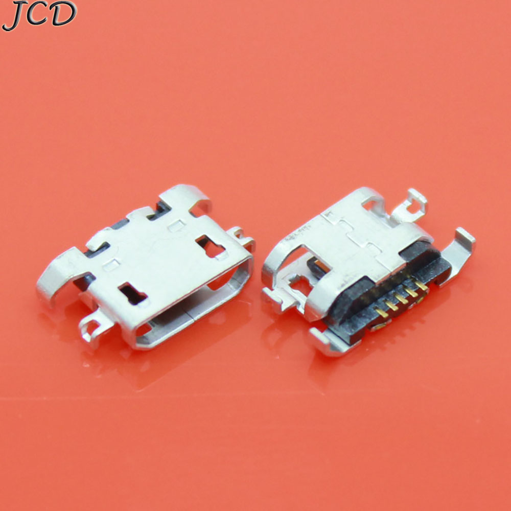 JCD 100pcs Micro USB 5pin Heavy Plate 1.28mm No Side Flat Mouth Without Curling Side Female Connector For Mobile Phone Mini USB
