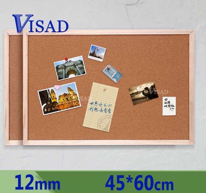 12mm Cork Board Brown Bulletin Cork Message Notice Board 45*60cm Home Frame Photo Board