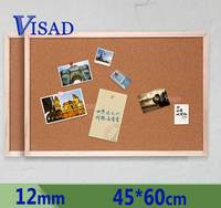12mm Cork Board Brown Bulletin Board Cork Message Board Nail Style Notice Board 45 60cm