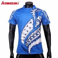 كاواساكي مخصص للرجبي الفانيلة الرجبي قميص قصير كم رجل ملابس رياضية أفضل قمم القمصان سريعة جاف الأزرق C-RJ0002