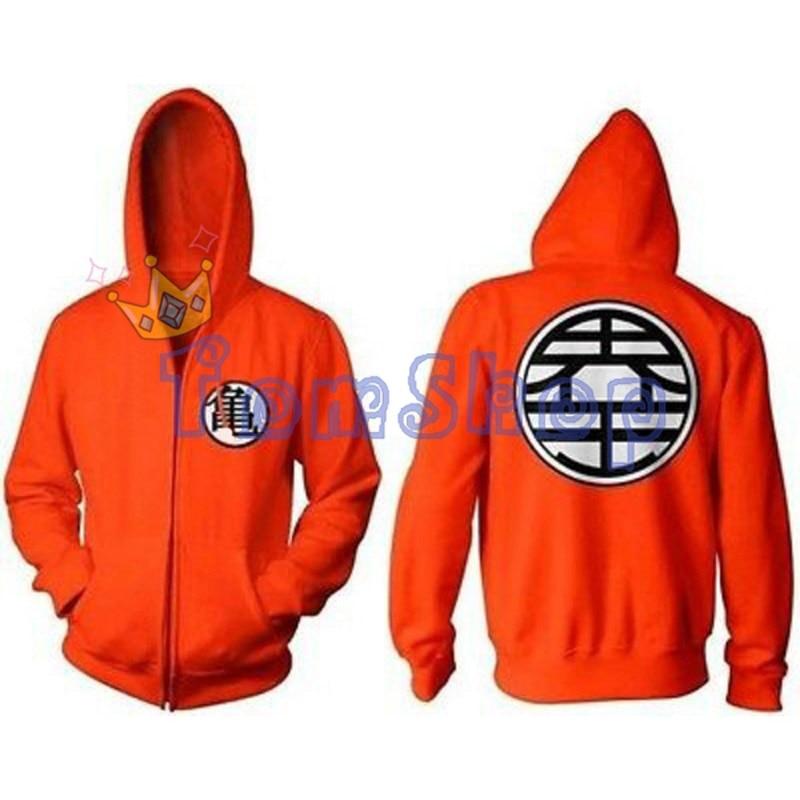 Anime Dragon Ball Z Unisex Hoodie Sweatshirts DragonBall Goku Kame King Kai Cosplay Hooded Jacket Coat Halloween Costume