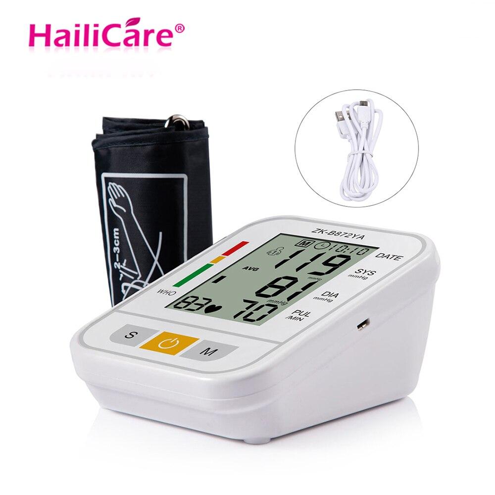 Blood Pressure Mess Automatische Oberarm-blutdruckmessgerät Digital Lcd Herzschlag Rate Pulse Meter Tonometer Für Test Home Health Care Ungleiche Leistung
