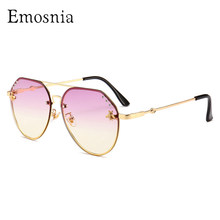 Emosnia Trendy Bee Top Sunglasses In Women's Rimless Brand Designer New Sun Glasses Shades Men Original Fashion Oculos De Sol(China)
