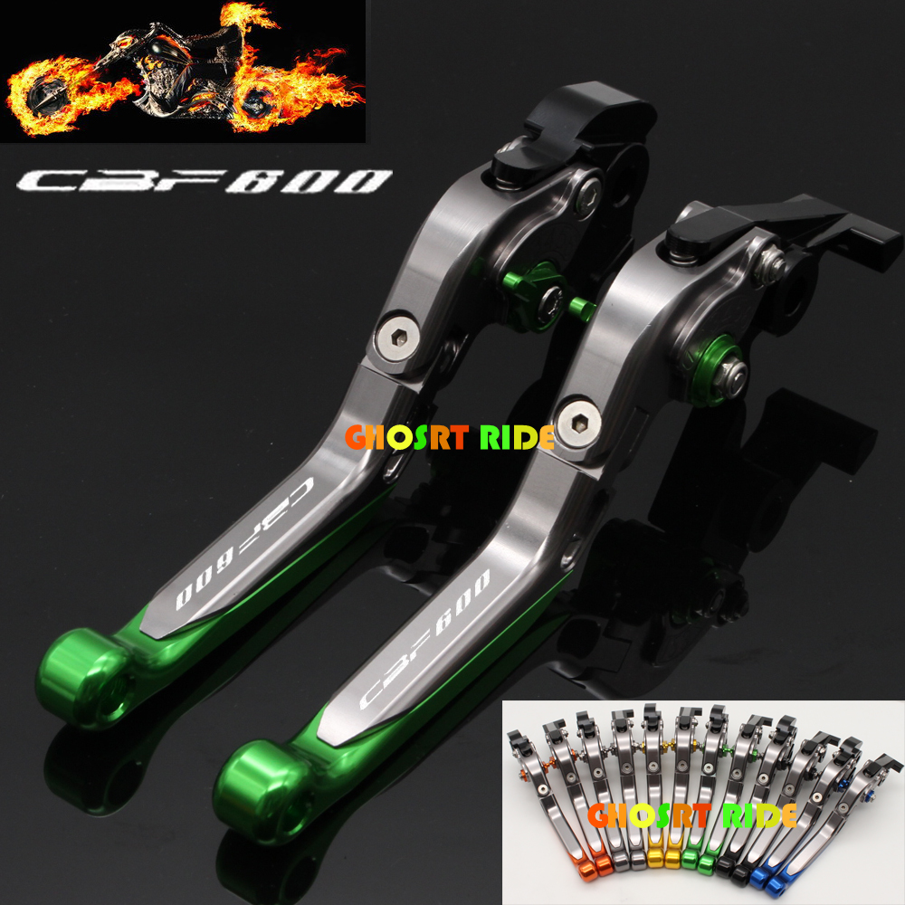 CNC Adjustable Folding Extendable Motorcycle Brake Clutch Levers For <font><b>Honda</b></font> <font><b>CBF</b></font> <font><b>600</b></font> SA <font><b>CBF</b></font> <font><b>600</b></font> <font><b>2006</b></font> 2007 image