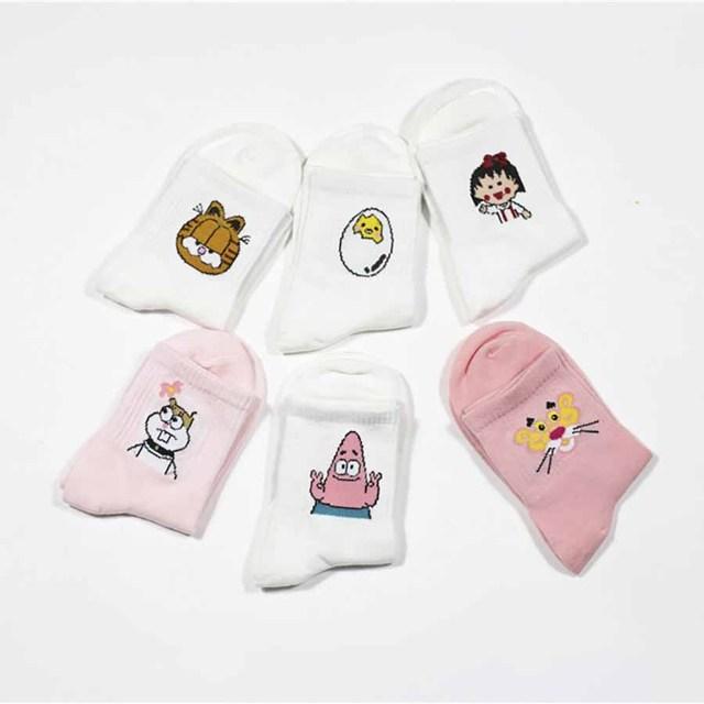 Harajuku Print Socks
