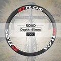 Сверхлегкие Углеродные велосипедные колеса 45 мм Глубина специальный тормозной V Тормозной клинчер 700c шоссейные велосипедные колеса