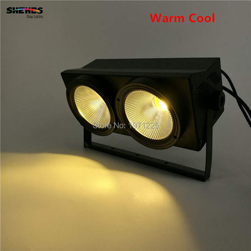 4PCS 2eyes 2x100w LED COB Light DMX Stage Lighting Effect Led Blinder Light ,Cool White and Warm White show plaza light stage blinder auditoria light ww plus cw 2in1 cob lamp 200w spliced type for stage