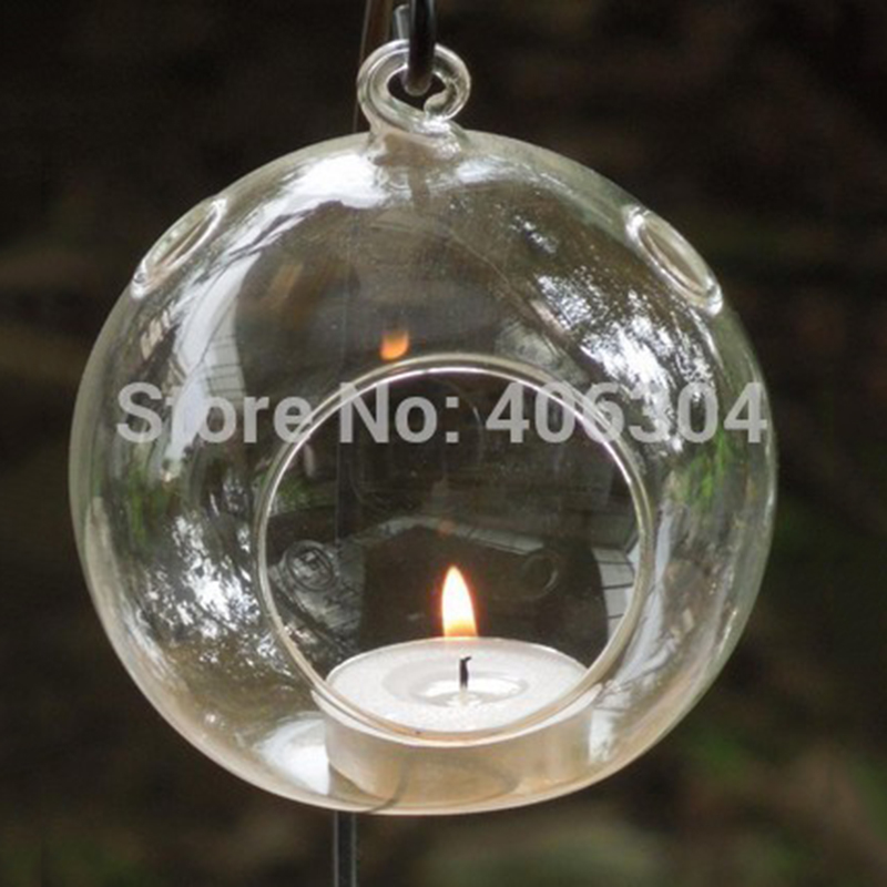 12cm Hanging Gl Bubble Candle Holder