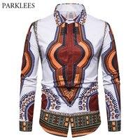 cb71dd2356 2018 African Dashiki Style Men Shirt 3D Floral Print Hip Hop Shirts For Men  New Fashion