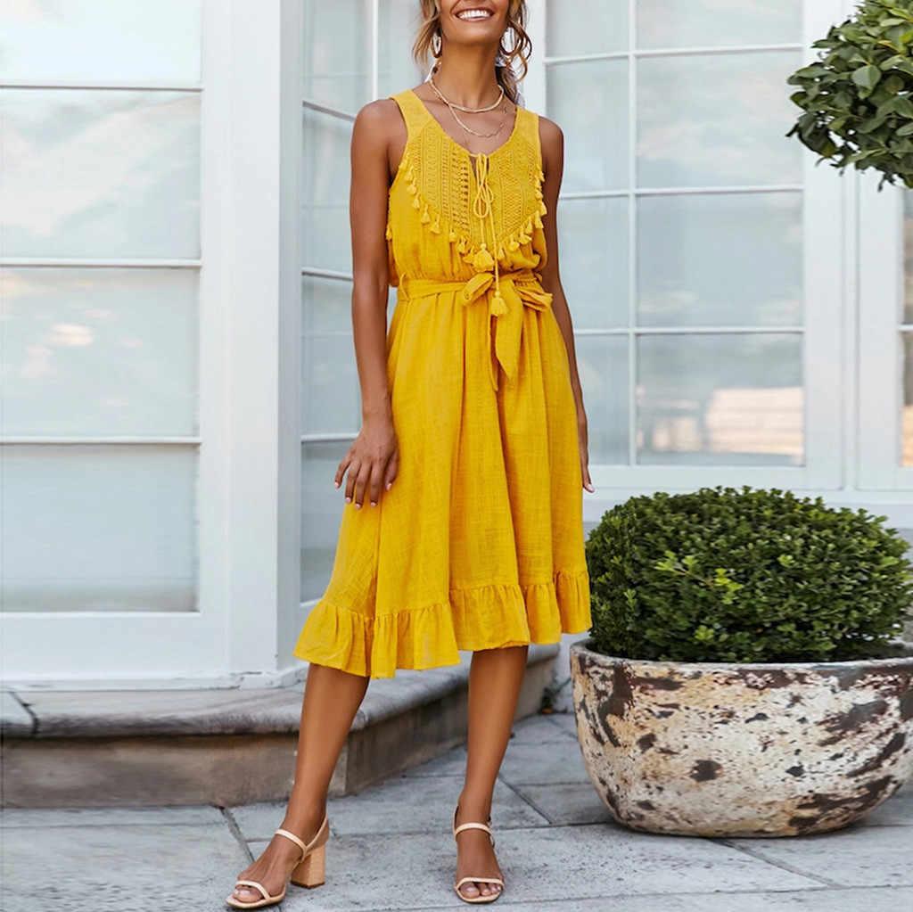 Décontracté bretelles Sexy bohème Floral tunique robe de plage robes d'été