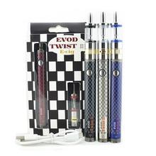 Electronic cigarette Evod twist III starter kit Dual Coil airflow control e cig M16 2ml atomizer 1200mah Evod twist e cigarette