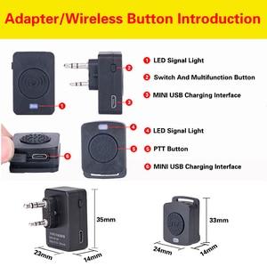 Image 3 - Walkie Talkie Wireless Earpiece Walkie Talkie Bluetooth Headset Two Way Radio Wireless Earphone For Motorola Baofeng Kenwood HYT