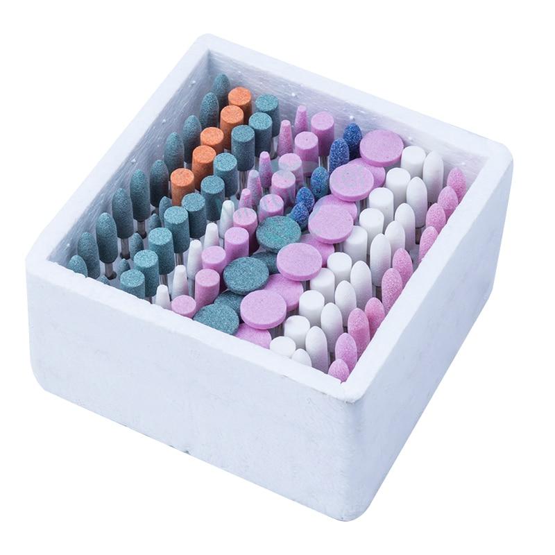 Dental 100 PCS Mixed Dental Lab Gravel Ceramic Thick Mounted Point Burs Polisher New Type